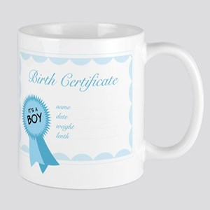 Birth Certificate Mug